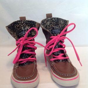 Girls Sperry Topsider Bahama high-top truffle shoe